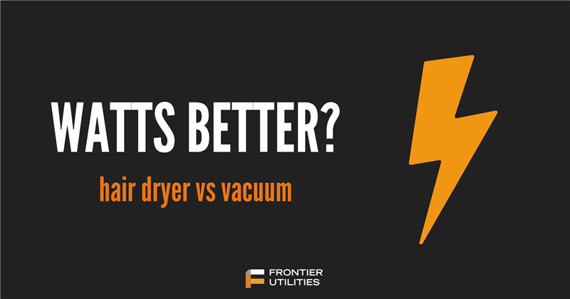 Watts Better? Hair Dyer vs. Vacuum