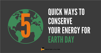 Easy Ways to Conserve Your Energy for Earth Day